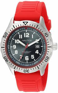 [ノーティカ]Nautica 'NSR 105' Quartz Stainless Steel and Silicone Casual Watch, NAD12536G
