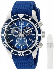 [ノーティカ]Nautica 'NST 09' Quartz Stainless Steel and Leather Casual Watch, NAD16551G
