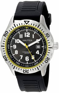 [ノーティカ]Nautica 'NSR 105' Quartz Stainless Steel and Silicone Casual Watch, NAD12538G