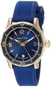 [ノーティカ]Nautica 'NWS 01' Quartz Stainless Steel and Silicone Casual Watch, NAD13525L