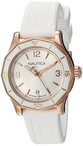 [ノーティカ]Nautica 'NWS 01' Quartz Stainless Steel and Silicone Casual Watch, NAD13537L