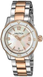 [ノーティカ]Nautica 'NWS 01' Quartz Stainless Steel Casual Watch, Color:SilverToned NAD19544L