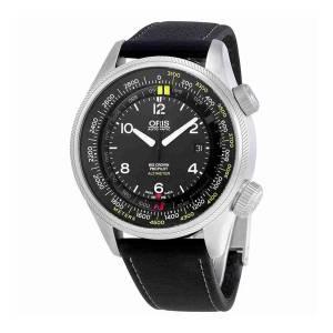 [オリス]Oris 'Big Crown' Swiss Automatic Stainless Steel and Leather Casual Watch, 73377054164LS