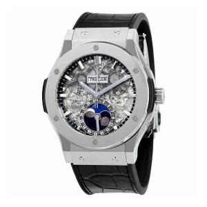 [ウブロ]Hublot  Classic Fusion Aerofusion Moonphase Sapphire Dial Titanium Watch 517.NX.0170.LR