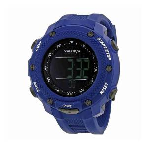 [ノーティカ]Nautica 腕時計 NMX 15 Black Digital Dial Blue Rubber Watch NAI19524G メンズ