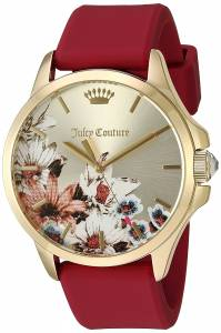 [ジューシークチュール]Juicy Couture  'Jetsetter' Quartz GoldTone and Silicone 1901484