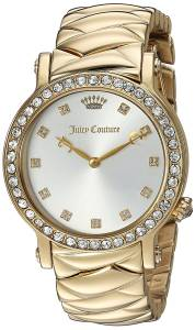 [ジューシークチュール]Juicy Couture 'LA Luxe' Quartz Tone and Gold Plated Casual 1901488