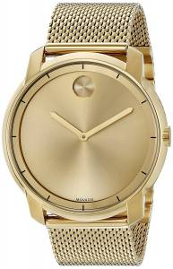 [モバード]Movado 腕時計 Swiss Quartz Tone and Gold Plated Watch 3600373 メンズ