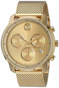 [モバード]Movado 腕時計 Swiss Quartz Tone and Gold Plated Watch 3600372 メンズ