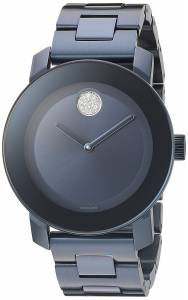 [モバード]Movado  Swiss Quartz Stainless Steel Watch, Color: Blue 3600388 レディース