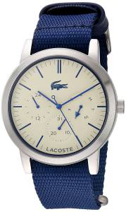 [ラコステ]Lacoste  'Metro' Quartz Stainless Steel and Nylon Watch, Color:Blue 2010875