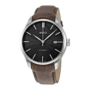 [ミドー]Mido  Belluna II Automatic Black Dial Brown Leather Watch M024.407.16.061.00 メンズ