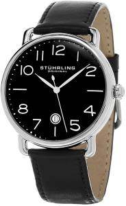 [ステューリングオリジナル]Stuhrling Original Symphony Black Dial Date Leather GP15506