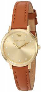 [ジューシークチュール]Juicy Couture  'LA Ultra Slim' Quartz GoldTone and Leather 1901453