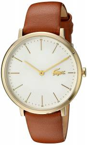 [ラコステ]Lacoste  Quartz GoldTone and Leather Automatic Watch, Color:Brown 2000947