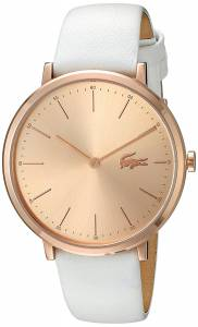[ラコステ]Lacoste  Quartz Gold and Leather Automatic Watch, Color:White 2000949 レディース