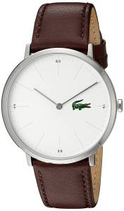 [ラコステ]Lacoste  Quartz Stainless Steel and Leather Automatic Watch, Color:Brown 2010872