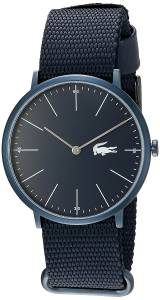 [ラコステ]Lacoste  Quartz Resin and Leather Automatic Watch, Color:Blue 2010874 メンズ