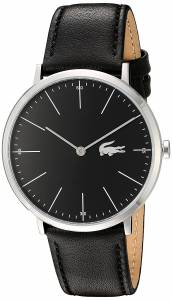 [ラコステ]Lacoste  Quartz Stainless Steel and Leather Automatic Watch, Color:Black 2010873