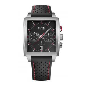 [ヒューゴボス]HUGO BOSS  BLACK Rectangular Chronograph Watch w/ Date 1513356 メンズ