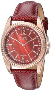 [バージ]Burgi  Swarovski Crystal Accented Brown MotherofPearl Dial with RoseTone Case BUR167RD