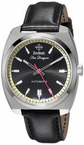 [ゾディアック]Zodiac 'Seadragon' Swiss Automatic Stainless Steel and Leather Casual ZO9910