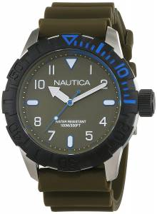 [ノーティカ]Nautica  'NSR 106' Quartz Stainless Steel and Silicone Casual Watch, NAD09518G