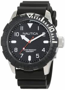 [ノーティカ]Nautica  'NSR 106' Quartz Stainless Steel and Silicone Casual Watch, NAD09519G