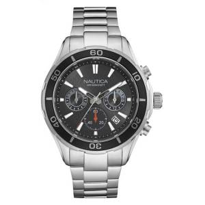 [ノーティカ]Nautica 'NST 12' Quartz Stainless Steel Casual Watch, Color:SilverToned NAD18525G