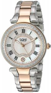[バージ]Burgi  White MotherofPearl Dial with Swarovski Crystal Accents and TwoTone BUR165TTR