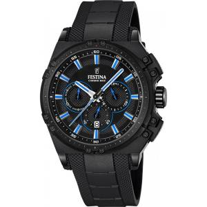 フェスティナ Festina CHRONO BIKE 2016 Men's Quartz Watch with Black Dial Chronograph F16971/2