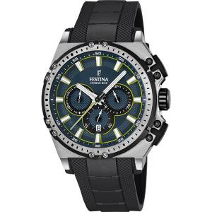 フェスティナ Festina CHRONO BIKE 2016 Men's Quartz Watch with Blue Dial Chronograph F16970/3