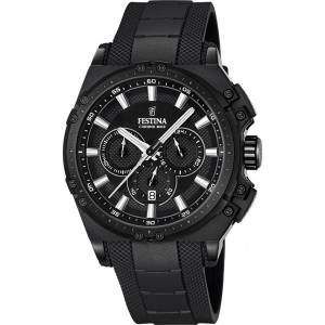 フェスティナ Festina CHRONO BIKE 2016 Men's Quartz Watch with Black Dial Chronograph F16971/1