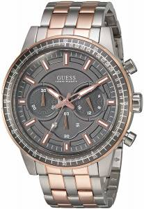 [ゲス]GUESS  Sporty Rose GoldTone Stainless Steel Watch with Chronograph Dial and Pilot U0801G2