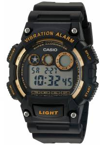 [カシオ]Casio 'Super Illuminator' Quartz Stainless Steel and Resin Watch, W-735H-1A2VCF