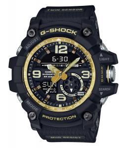 [カシオ]Casio GShock Master of G Mudmaster Series Black and GoldTone Watch GG1000GB1A GG1000GB-1A
