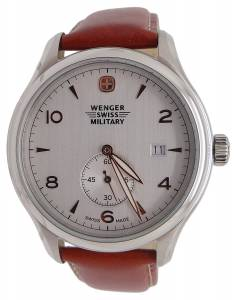 [ウェンガー]Wenger 腕時計 Swiss Army Military Silver Dial Watch 79301C [並行輸入品]
