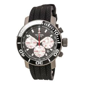 [ティーダブルスティール]TW Steel Grandeur Diver Watch Black Dial Date Watch 45mm TW704-N