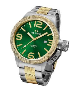 [ティーダブルスティール]TW Steel Canteen Bracelet Automatic Green Dial Two Tone CB66