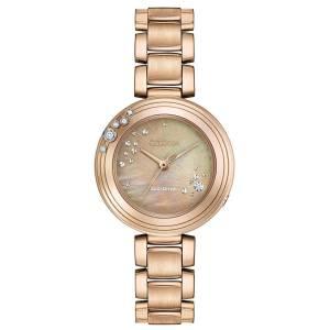 [シチズン]Citizen 腕時計 EcoDrive L CARINA Rose GoldTone 6Diamond Watch EM0463-51Y