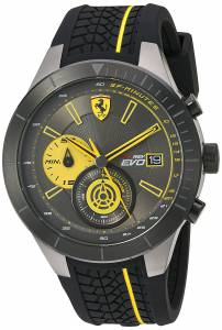 [フェラーリ]Ferrari Scuderia Quartz Stainless Steel and Silicone Casual Watch, 830342