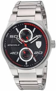 [フェラーリ]Ferrari  Scuderia Quartz Stainless Steel Casual Watch, Color:SilverToned 830358