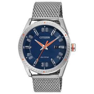 [シチズン]Citizen  CTO Blue / Silver Stainless Steel EcoDrive Quartz Watch BM6990-55L メンズ