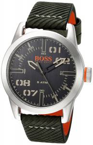 [ヒューゴボス]HUGO BOSS BOSS Orange 'OSLO' Quartz Stainless Steel and Leather Casual 1513415