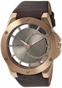 [ケネスコール]Kenneth Cole New York 'Transparency' Quartz Stainless Steel and Leather 10030786