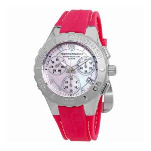 [テクノマリーン]TechnoMarine Cruise Medusa Chronograph Pink Pearl Dial Watch 115085 TM-115085