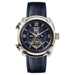 [インガソール]Ingersoll Automatic Stainless Steel and Leather Casual Watch, Color:Blue I01101