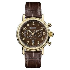 [インガソール]Ingersoll  Quartz Stainless Steel and Leather Casual Watch, Color:Brown I01003