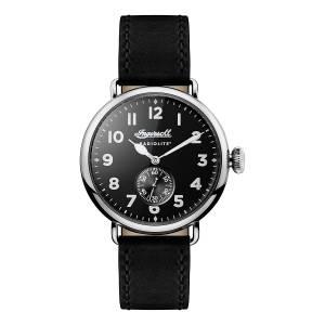 [インガソール]Ingersoll  Quartz Stainless Steel and Leather Casual Watch, Color:Black I03201