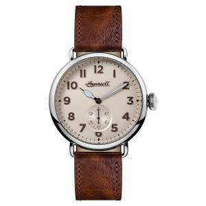 [インガソール]Ingersoll  Quartz Stainless Steel and Leather Casual Watch, Color:Brown I03301